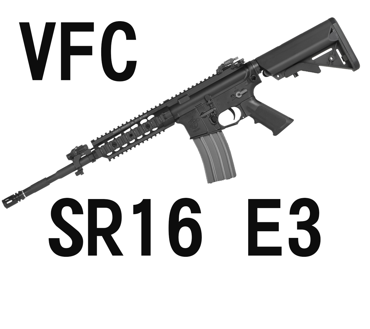 【翔準軍品AOG】【VFC】SR16 E3 卡賓 海豹托 魚骨版 電動槍 長槍 黑色 VF1-LSR16-BK81