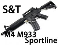【翔準軍品AOG】【S&T】M4 M933 Sportline BK 電動槍 優惠 生存遊戲 魚骨 槍托 握把 電池 DA-ST-AEG