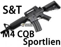【翔準軍品AOG】【S&T】M4 CQB Sportline BK 電動槍 優惠 生存遊戲 魚骨 槍托 握把 電池 DA-ST-AEG