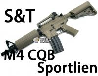【翔準軍品AOG】【S&T】M4 CQB Sportline FDE 電動槍 優惠 生存遊戲 魚骨 槍托 握把 電池 DA-ST-AEG