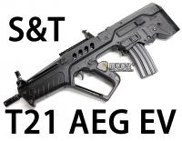 【翔準軍品AOG】【S&T】T21 AEG 電動槍 優惠 生存遊戲 魚骨 槍托 握把 電池 DA-ST-AEG-10