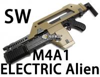 【翔準軍品AOG】【SW】M4A1 ELECTRIC Alien 電動槍 氣彈槍 生存遊戲 魚骨 槍托 握把 電池 DA-SW-11