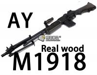 【翔準軍品AOG】【AY】M1918 Real Wood 步槍 長槍 電動槍 生存遊戲 腳架 彈匣 握把 全金屬 DA-AY1918RW