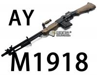 【翔準軍品AOG】【AY】M1918 步槍 長槍 電動槍 生存遊戲 腳架 彈匣 握把 全金屬 DA-AY1918WC