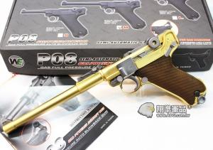 【翔準軍品AOG】WE偉益 瓦斯手槍 P08 金L版  魯格 德軍二戰