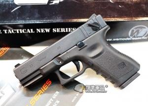 【翔準國際AOG】【WE 黑色G23】 GLOCK 瓦斯槍,手槍,BB槍(金屬滑套+金屬槍管) 金屬BB槍 瓦斯槍 D-02-07
