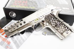 【翔準軍品AOG】【WE 1911 蜂巢 銀銀】 瓦斯槍 GBB 手槍 拆卸 全金屬 後座力 D-02-08-6A