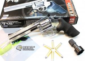【翔準國際AOG】ASG Dan Wesson 715 CO2 6吋全金屬左輪手槍-電鍍銀色 WG021