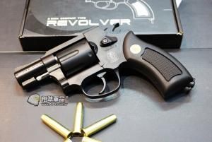 【翔準國際AOG】WG 733B左輪 兩吋 黑 CO2 直壓槍 全金屬 WG001