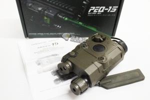 【翔準軍品AOG】【PEQ-15 綠雷射+槍燈 電池盒 綠】老鼠尾 按鍵開關 綠外線 DA-UFCBA32BA