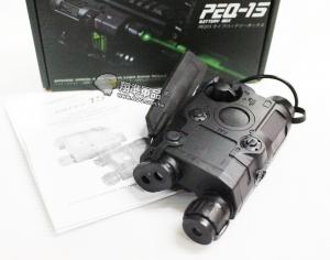 【翔準軍品AOG】【PEQ-15 紅點+綠光 黑色】紅外線 紅雷射 槍燈 電池盒 DA-UFCBA32CB
