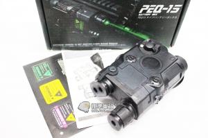 【翔準軍品AOG】【PEQ-15 綠雷射 電池盒 黑】老鼠尾 綠外線 精緻 細膩 配件 裝備 DA-UFCBA26B