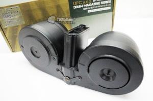 【翔準軍品AOG】【M4 聲控 彈鼓 2500連】自動上彈 彈匣 2500發 彈量 大容量彈匣 DA-UFCMG698