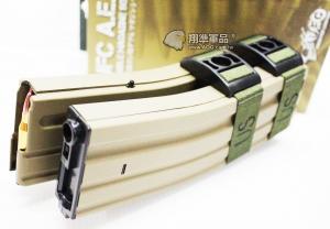 【翔準軍品AOG】【UFC 聲控 1200連 彈鼓 M4 尼/沙】自動 上彈 電動彈匣 雙排 DA-698-6AT