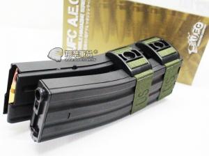 【翔準軍品AOG】【UFC 聲控 1200連 彈鼓 M4 黑】自動 上彈 電動彈匣 雙排 DA-698-6A