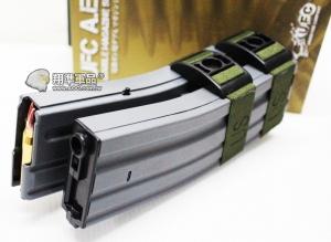 【翔準軍品AOG】【UFC 聲控 1200連 彈鼓 M4 灰】自動 上彈 電動彈匣 雙排 DA-698-6AG