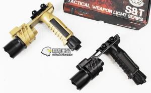 【翔準軍品AOG】UFC 菜刀型 黑色 沙色 握把 槍燈 910 電動槍 瓦斯槍 DA-UFCM910