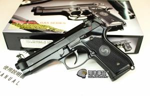 【翔準軍品AOG】LS M9 黑色 塑膠版 瓦斯槍 滑套可動 後座力強 可無彈後定 DHG-204