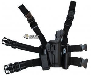 【翔準軍品AOG】LV3 黑鷹 M9 腿掛 槍套 BB槍 手槍 玩具槍 P1100H