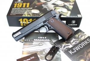 【翔準軍品AOG】1911 黑色 瓦斯槍 手槍 無軌 全金屬  D-05-15