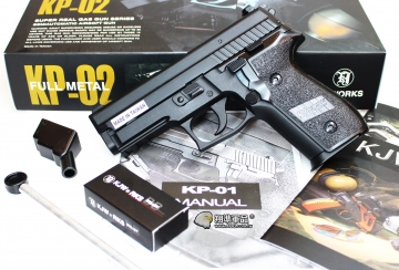 【翔準軍品AOG】KJ P229  黑色 瓦斯槍 手槍 戰術 寬軌 D-05-02
