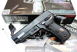 【翔準軍品AOG】KJ P226 黑色 瓦斯槍 手槍 戰術 寬軌 D-05-01