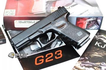 【翔準軍品AOG】KJ G23M GLOCK 黑色 半金屬 瓦斯槍 手槍 寬軌 戰術 D-05-18