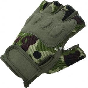 【翔準軍品AOG】傘兵 半指 迷彩手套 手套 生存遊戲 射擊 手套 騎車 機車 腳踏車 防BB彈 X1-45-2