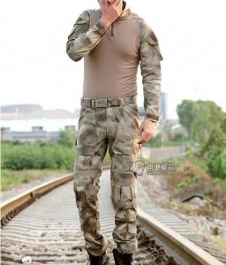 【翔準國際AOG】AT 潑墨灰 青蛙裝 生存 套服 戰鬥服 棉質上衣 耐磨 整套 含護具 G0125