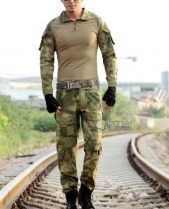 【翔準國際AOG】FG 潑墨綠 青蛙裝 生存 套服 戰鬥服 棉質上衣 耐磨 整套 含護具 G0125