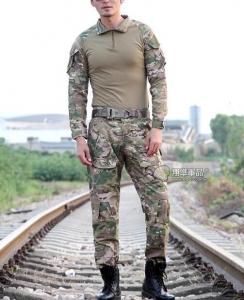 【翔準國際AOG】CP 多地 青蛙裝 生存 套服 戰鬥服 棉質上衣 耐磨 整套 含護具 G0125