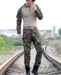 【翔準國際AOG】數位叢林 青蛙裝 生存 套服 戰鬥服 棉質上衣 耐磨 整套 含護具 G0125