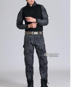 【翔準國際AOG】黑蟒 黑警蟒 青蛙裝 生存 套服 戰鬥服 棉質上衣 耐磨 整套 含護具 G0125