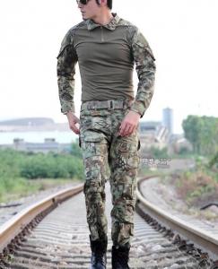 【翔準國際AOG】叢林蟒 青蛙裝 生存 套服 戰鬥服 棉質上衣 耐磨 整套 含護具 G0125