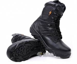 【翔準國際AOG】新款 三角洲 黑 側開拉鍊 19公分 戰鬥鞋 戰鬥靴 靴子 軍靴 登山鞋 運動鞋 耐磨 防滑 H0104