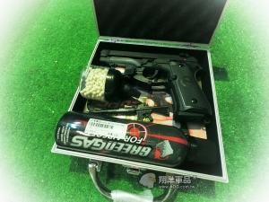 【翔準軍品AOG】【SRC】打靶六套組 M92瓦斯槍+紅外線+槍箱+瓦斯+500發0.2BB彈+迷你彈罐