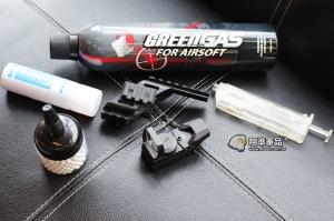 【翔準軍品AOG】 超商免運 手槍衝鋒6套件 GLOCK手槍魚骨+恐龍瓦斯+L型內紅點+SRC矽油+填彈器+BB彈 套件 超值 升級 手槍