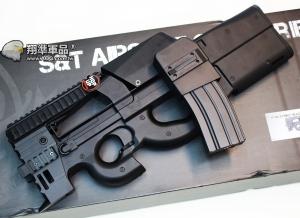 【翔準國際AOG】S&T P90 STRIKE 黑色 攻擊頭版 彈鼓  電動槍 AEG-73G