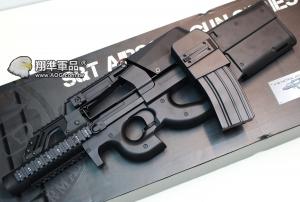 【翔準國際AOG】S&T P90 TACTICAL 黑色 大河戰艦版 彈鼓  電動槍 AEG-73G