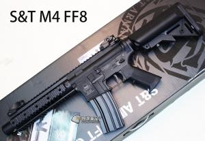 【翔準軍品AOG】S&T M4 FF8 SPORTLINE 電動槍 黑色 魚骨版 AEG-69