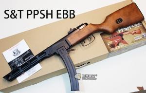 【翔準軍品AOG】】【S&T】PPSH-41 巴巴莎 電動槍 衝鋒槍 全金屬 退鏜 生存遊戲 彈鼓 實木 開放式機槍 蘇聯 俄國 二戰 DA-ST-AEG-01