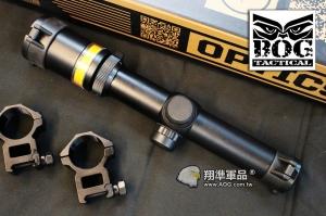 【翔準國際AOG】BOG 1.5-6X24 自動發光 光纖軍規抗震 瞄準具 保固60天 狙擊鏡 瞄準鏡 可抗真槍瞄具 (紅綠任選) 1512/1482
