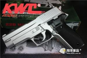 【翔準軍品AOG】銀色 KWC P226 手拉空氣槍,空氣手槍,空氣槍,BB槍(KA15C) D-03-09