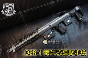 【翔準軍品AOG】DSR-1狙擊步槍(銀色) Precision 特警部隊 手拉空氣版本 全金屬 贈:耐衝擊槍箱