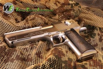 【翔準軍品AOG】【預購 即將發貨】銀色 沙漠之鷹 WE Desert Eagle .50AE  GBB 瓦斯槍(免運費) 授權版本 送槍箱
