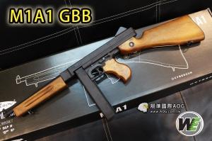 【翔準軍品AOG】WE M1A1 湯普森 芝加哥打字機 Thompson 全金屬瓦斯槍 GBB 二戰 (免運費) 授權商品