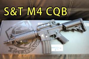 【翔準軍品AOG】S&T M4 CQB 智慧 智能版 電子芯片 鋼齒活塞 快拆彈簧 DA-AEG261BK