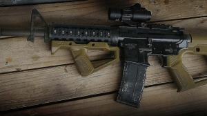 【翔準軍品AOG】SR Q Front Grip-Black 寬軌魚骨握把 3D列印  戰術握把 (黑/綠/沙