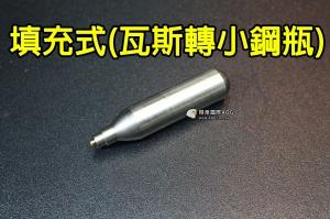 【翔準軍品AOG】【CO2 填充罐 填充式 瓦斯轉換小鋼瓶 全金屬 重複使用 手槍 長槍 Y5-001B