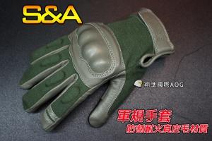 【翔準軍品AOG】(三角)可觸屏 防割耐火真皮毛 全指手套(灰)軍規 戰術 健身 射擊 騎車(3010)SNA7C